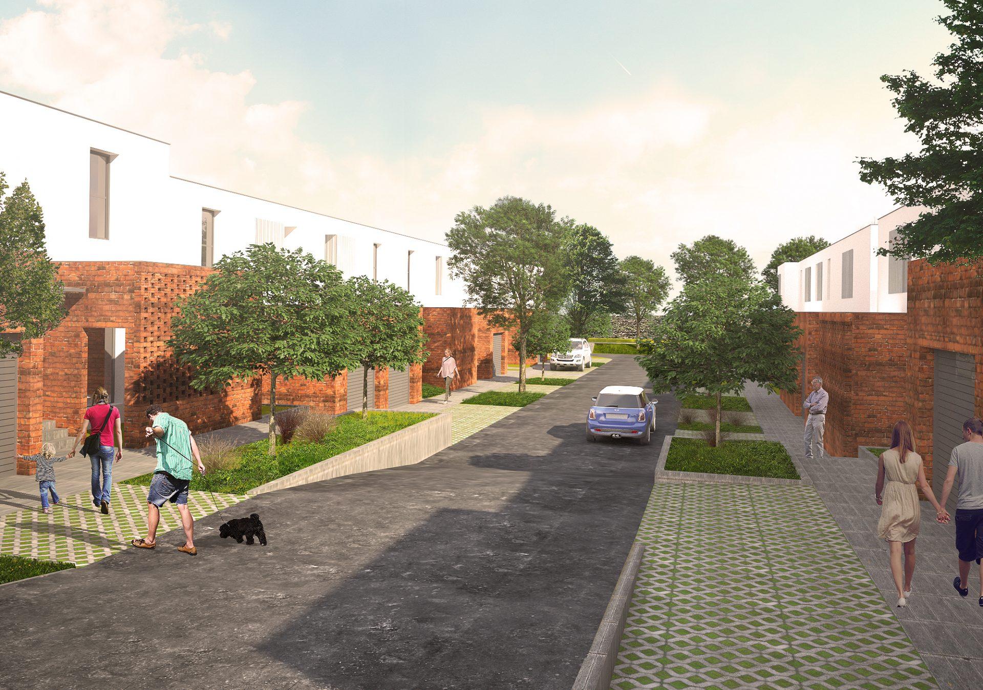 Ulični prikaz kuća i interne saobraćajnice Faza 2