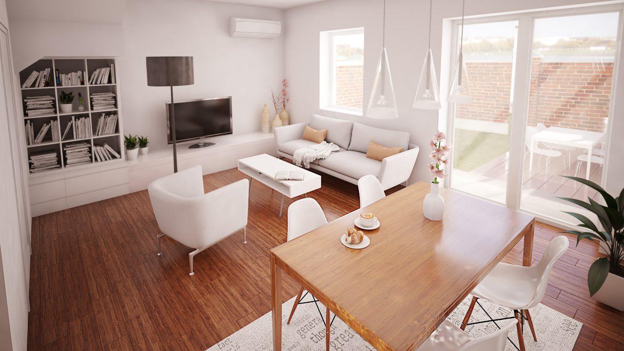 Dnevna soba stana od 80 m2