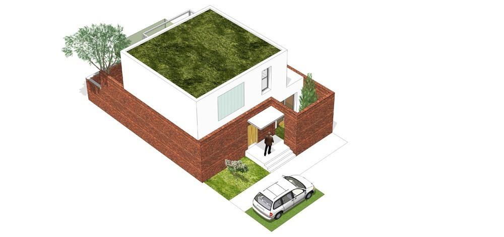 Tip kuće Mh ulični prikaz - Solarna dolina Faza II