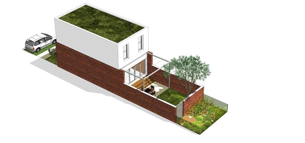 Tip kuće S dvorišni prikaz - Solarna dolina Faza II