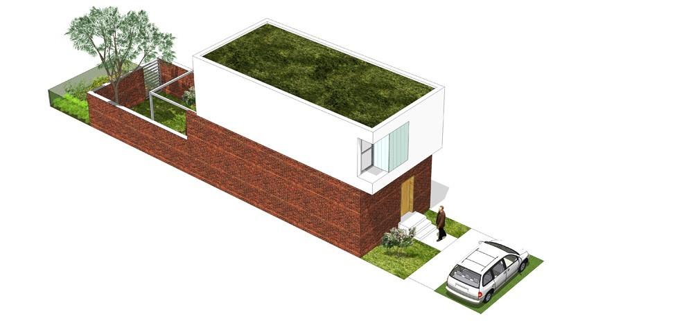 Tip kuće Se ulični prikaz - Solarna dolina Faza II