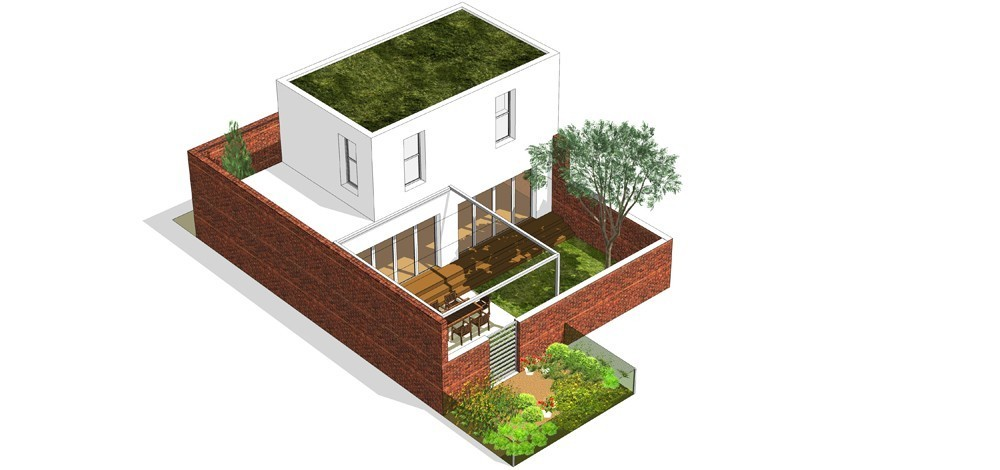 Tip kuće Sh dvorišni prikaz - Solarna dolina Faza II