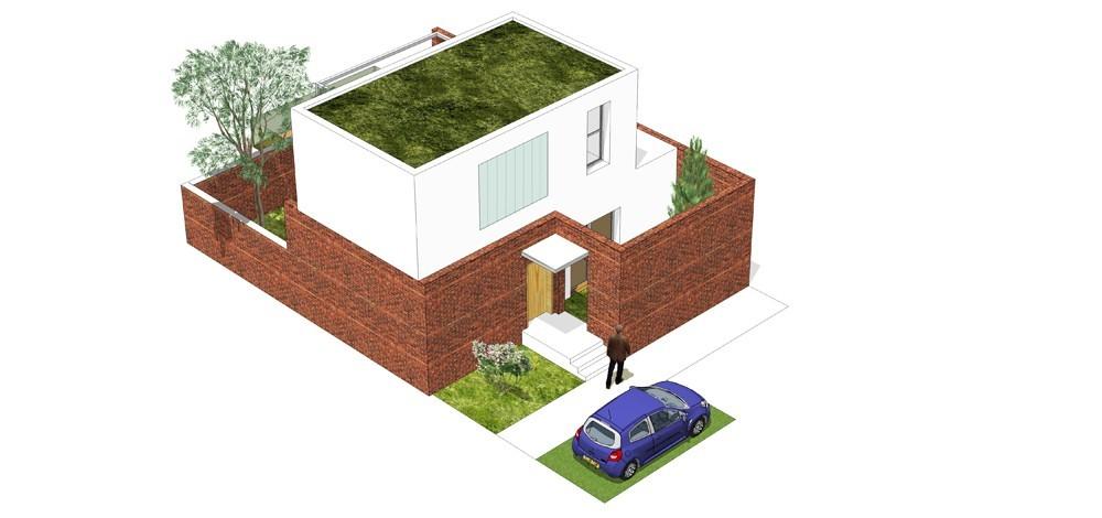 Tip kuće Sh ulični prikaz - Solarna dolina Faza II