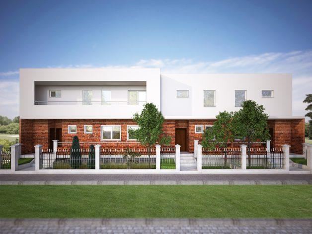 Frontalni izgled kuće u nizu